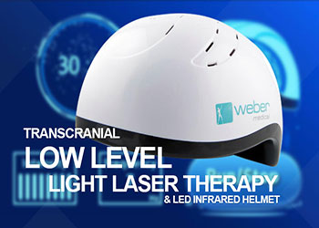 Transcranial Low Level Light Laser Therapy and LED Infrared Helmet